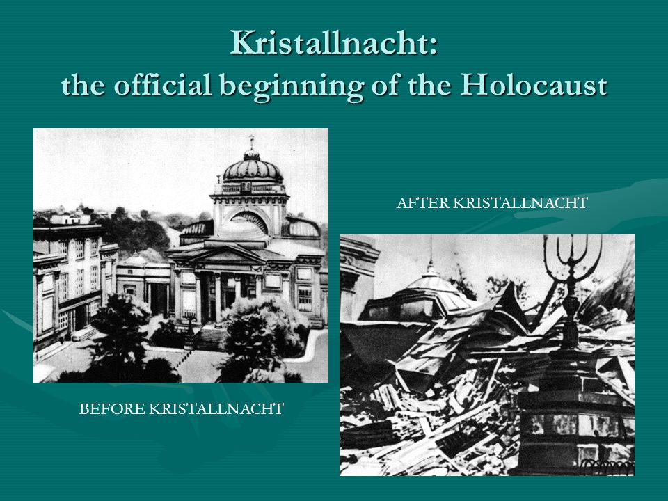 Kristallnacht: the official beginning of the Holocaust