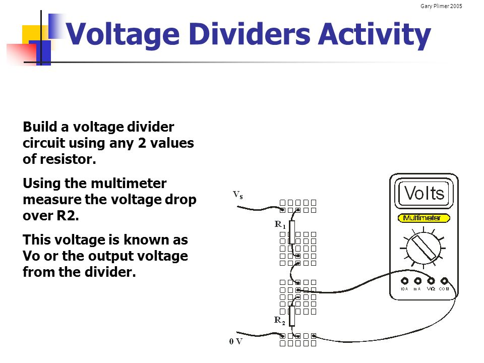 Voltage Dividers Activity