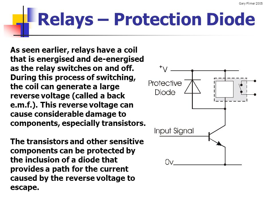 Relays – Protection Diode