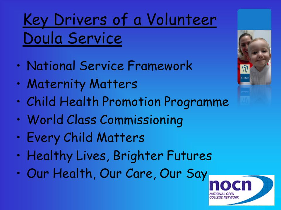 Key Drivers of a Volunteer Doula Service