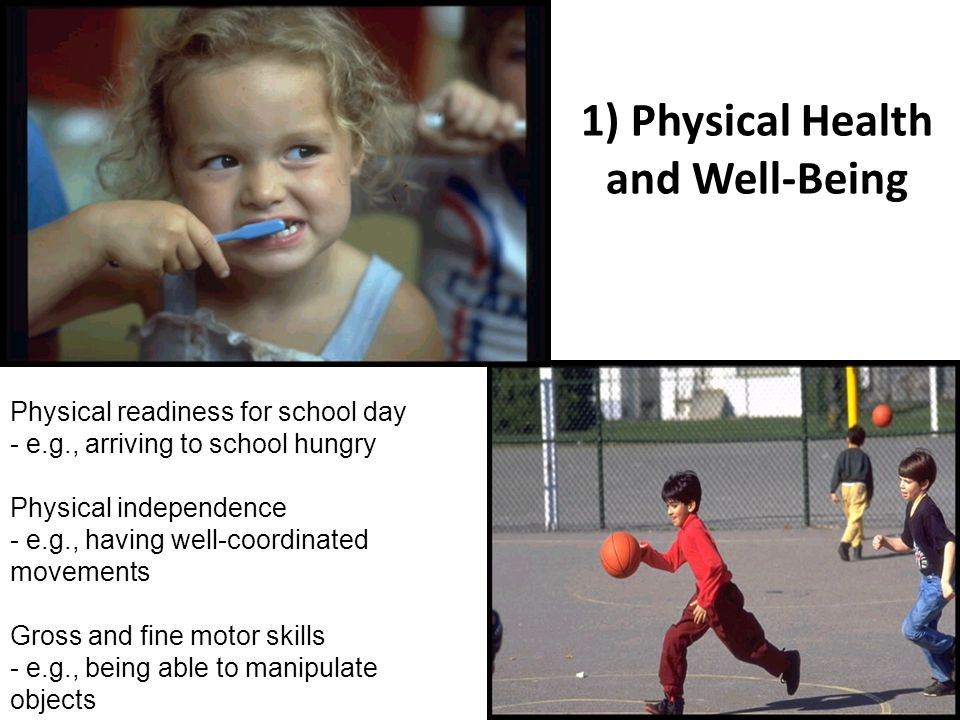 1) Physical Health and Well-Being
