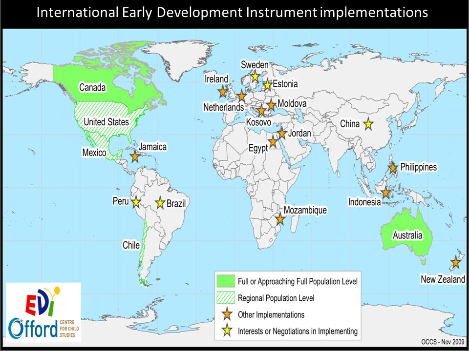 International Early Development Instrument implementations