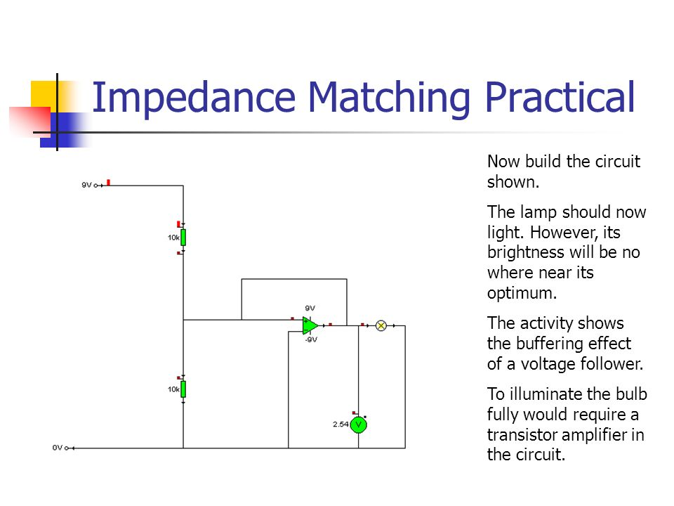 applied electronics outcome 2 ppt download21 impedance matching practical