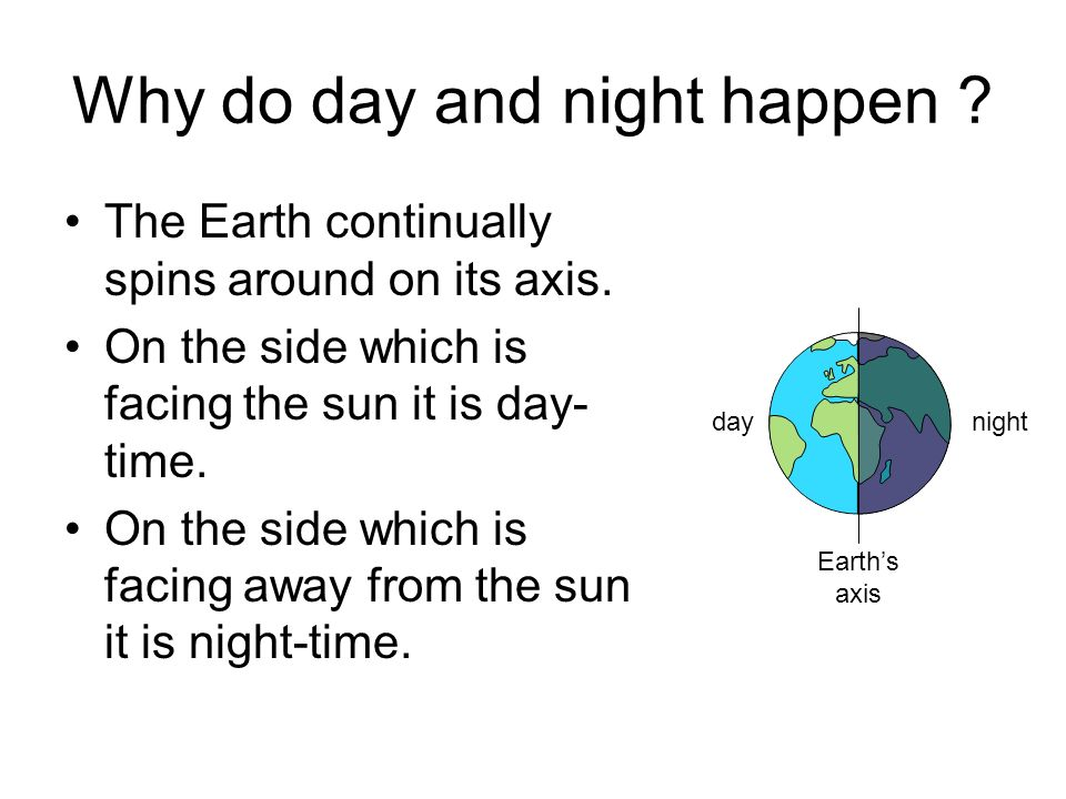 Why do day and night happen