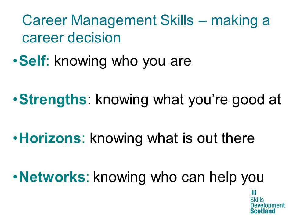 Career Management Skills – making a career decision