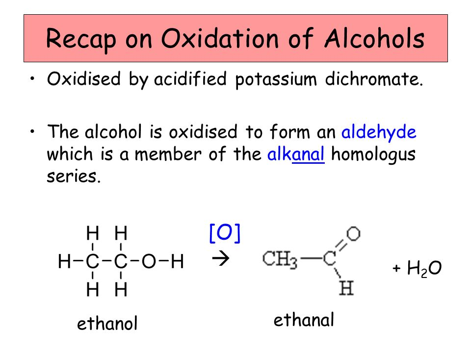 Recap on Oxidation of Alcohols