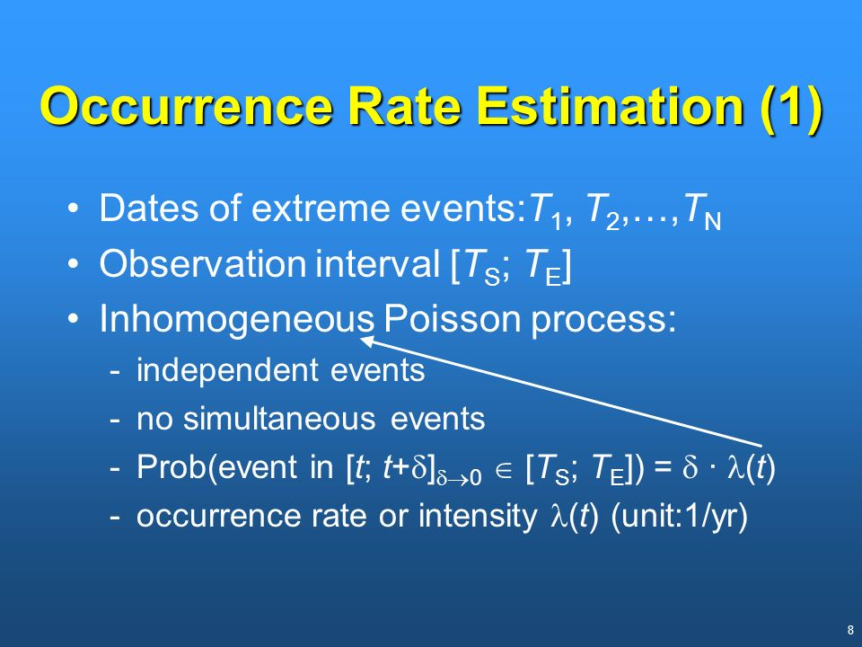 Occurrence Rate Estimation (1)