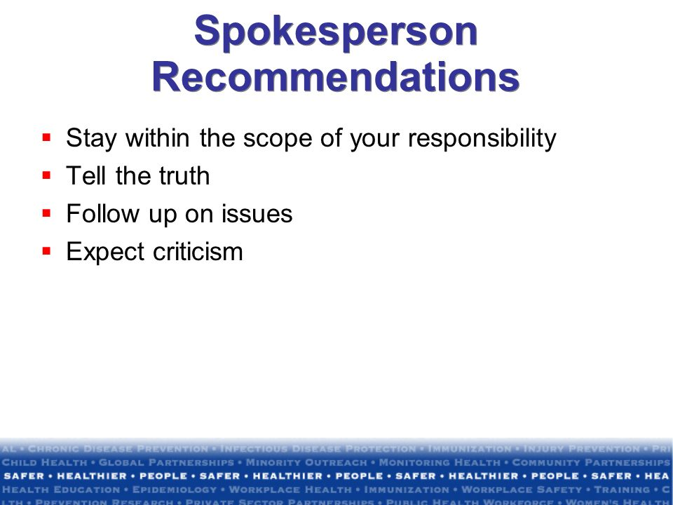 Spokesperson Recommendations