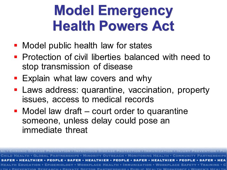 Model Emergency Health Powers Act