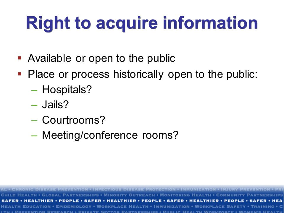 Right to acquire information