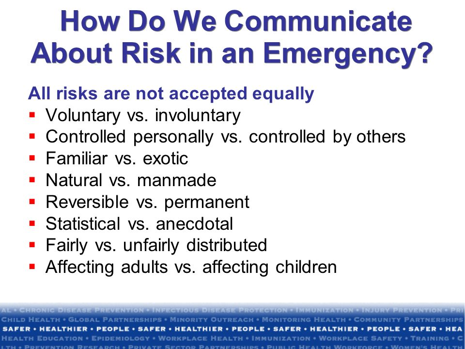 How Do We Communicate About Risk in an Emergency