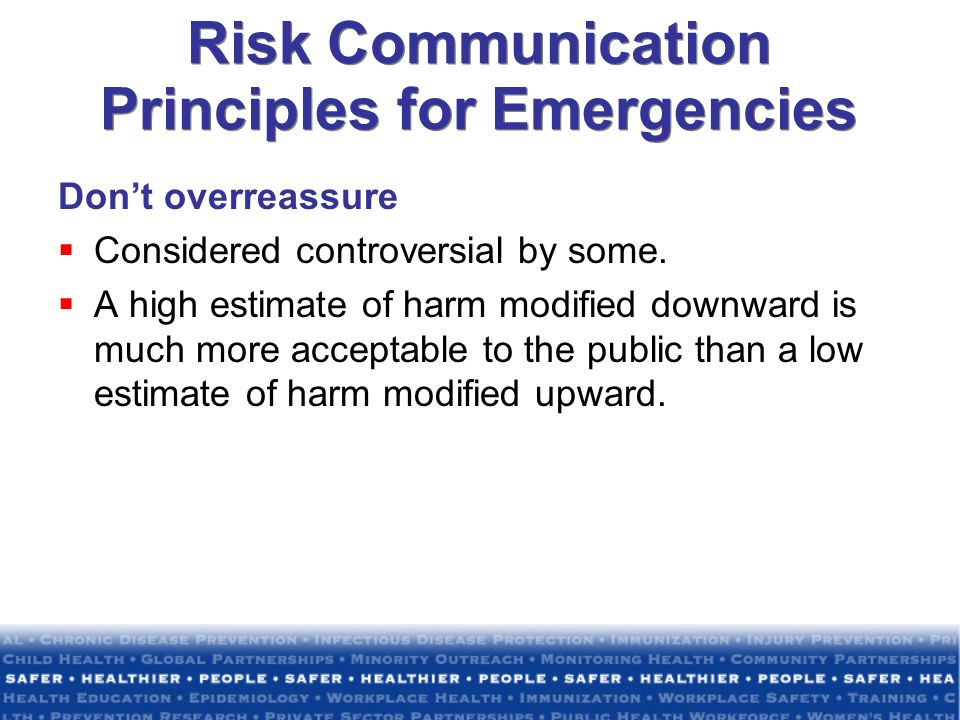 Risk Communication Principles for Emergencies