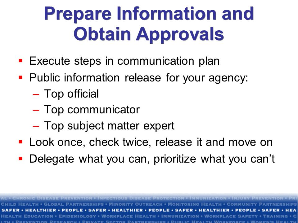 Prepare Information and Obtain Approvals
