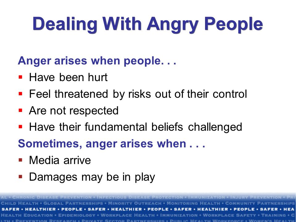 Dealing With Angry People