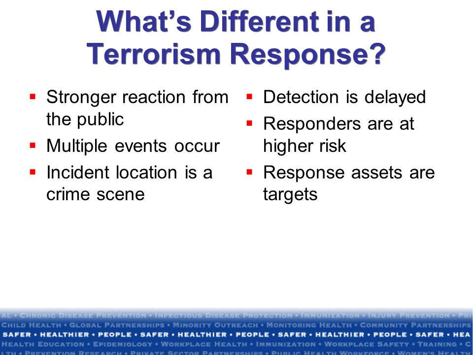 What's Different in a Terrorism Response