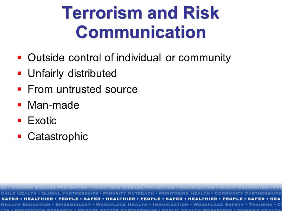 Terrorism and Risk Communication
