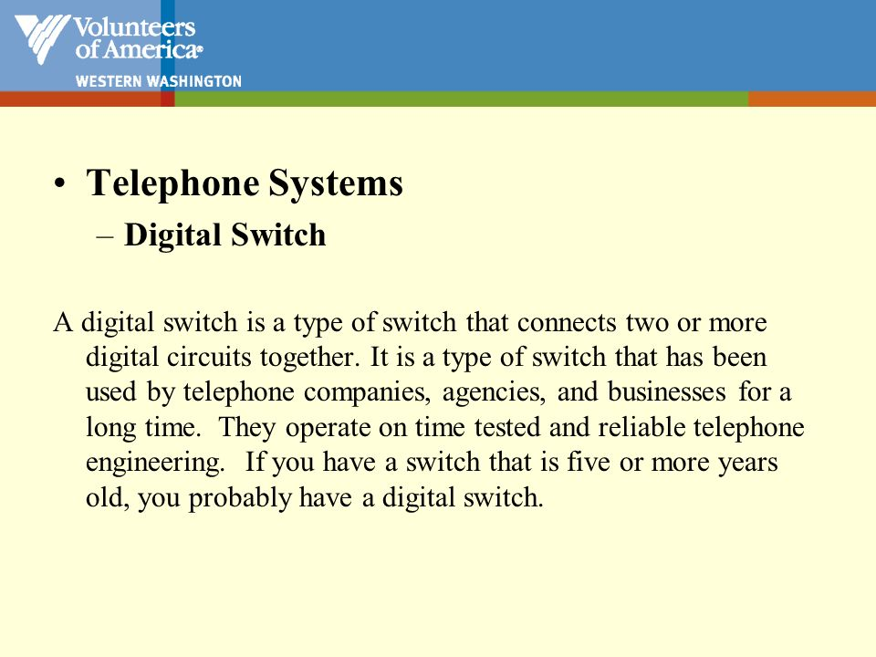 Telephone Systems Digital Switch