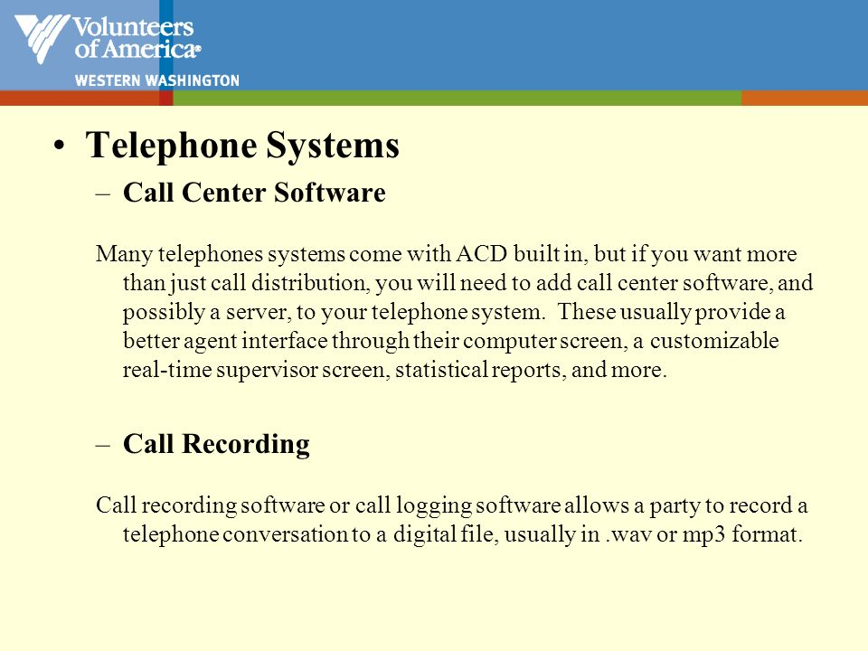 Telephone Systems Call Center Software Call Recording