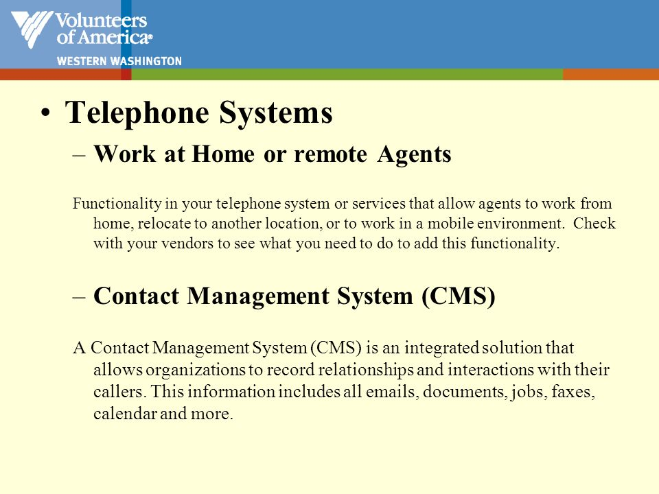Telephone Systems Work at Home or remote Agents