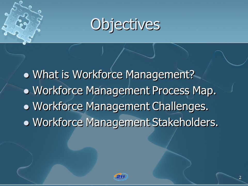 Objectives What is Workforce Management