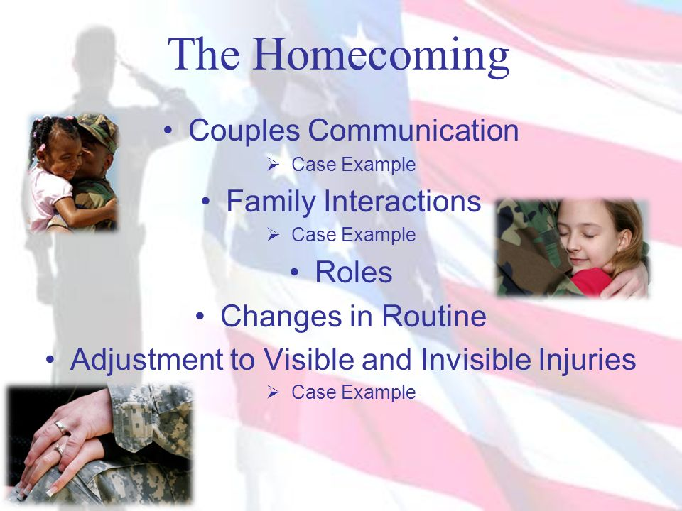 The Homecoming Couples Communication Family Interactions Roles