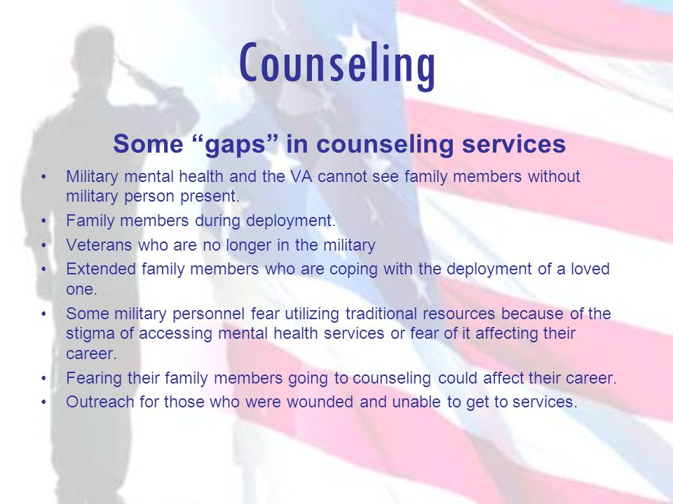 Some gaps in counseling services