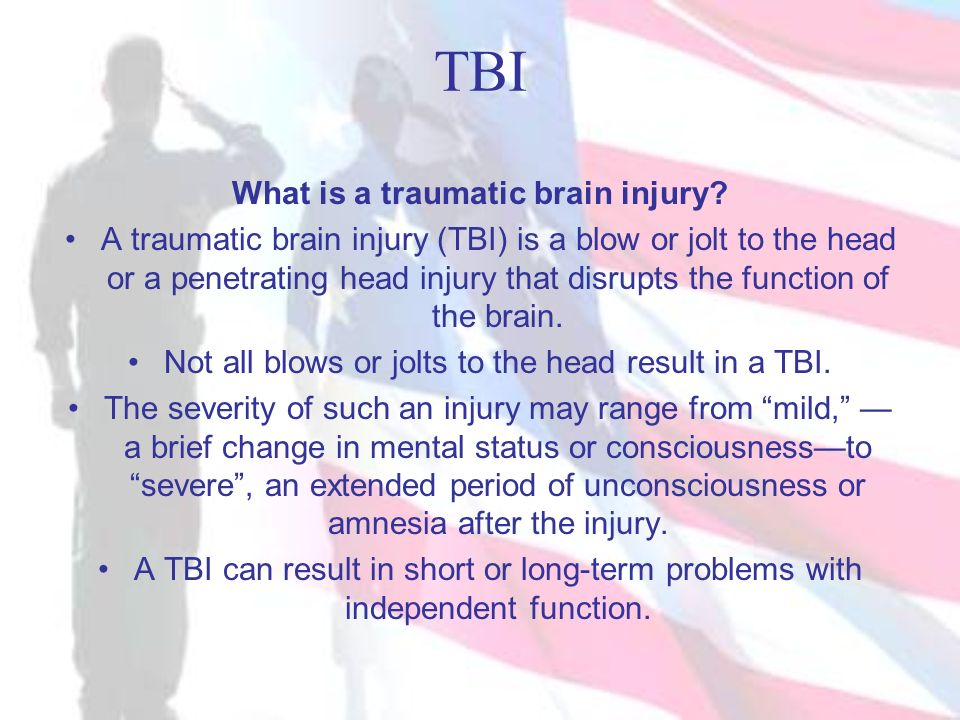 TBI What is a traumatic brain injury