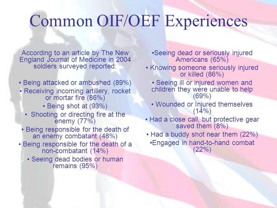 Common OIF/OEF Experiences
