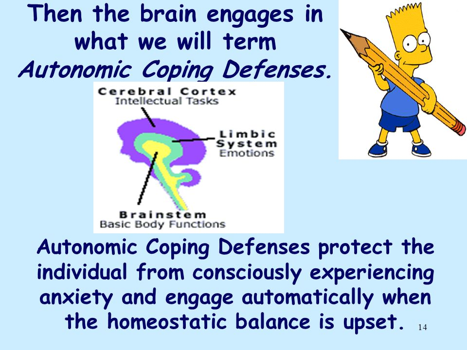 Then the brain engages in what we will term Autonomic Coping Defenses.