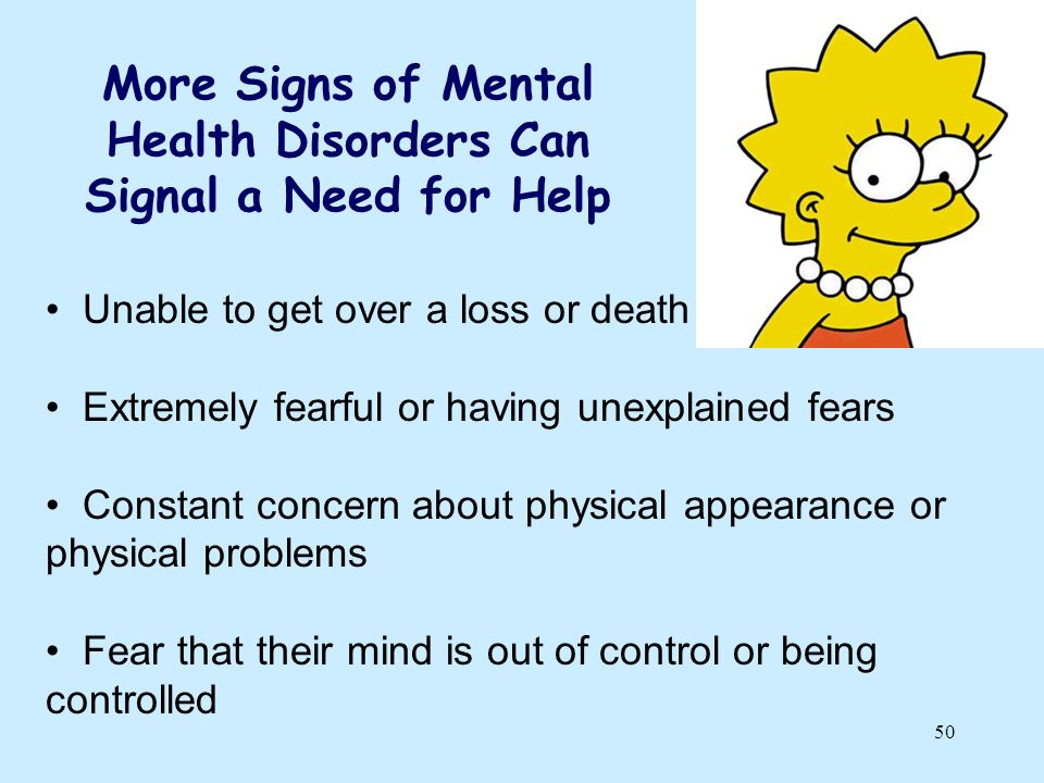 More Signs of Mental Health Disorders Can Signal a Need for Help