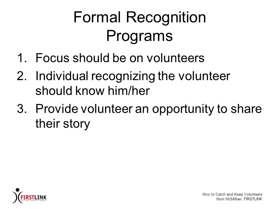 Formal Recognition Programs