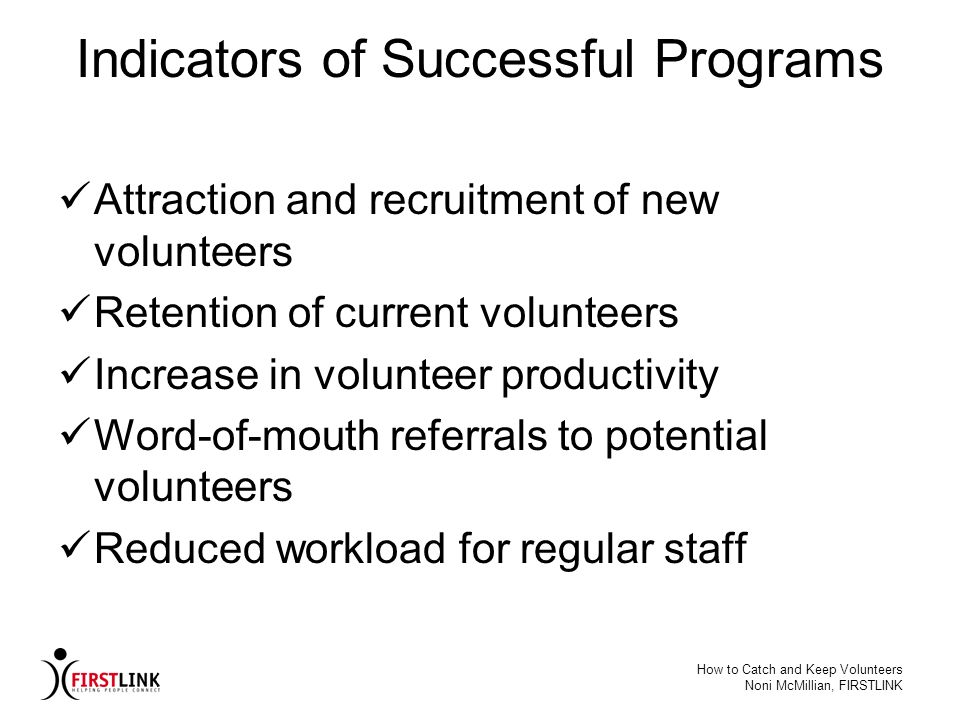 Indicators of Successful Programs