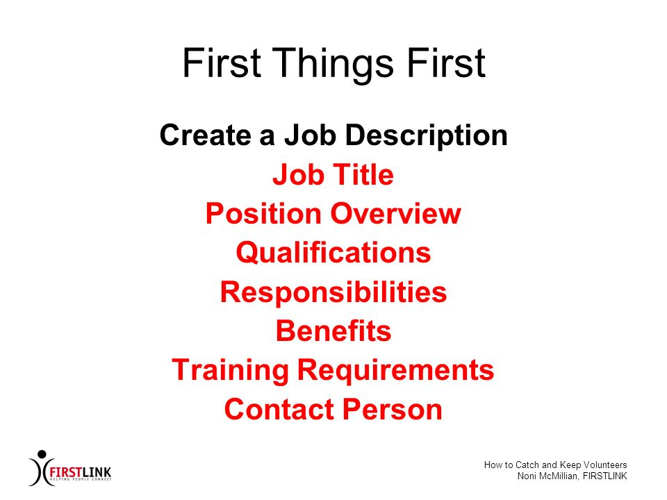 Create a Job Description Training Requirements