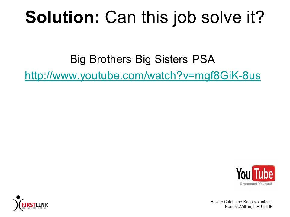 Solution: Can this job solve it