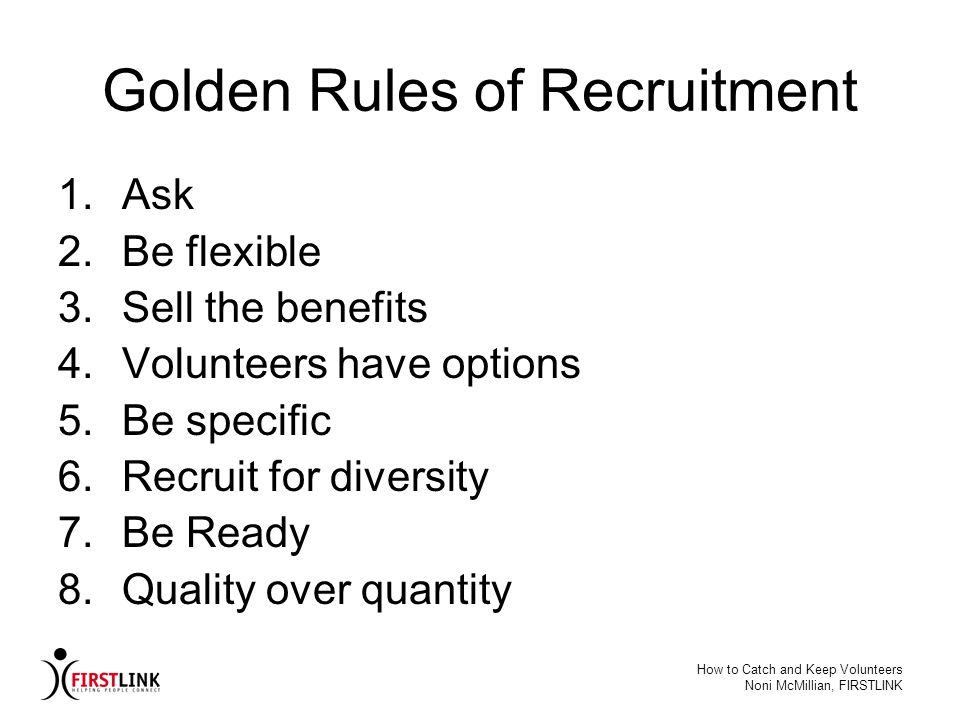 Golden Rules of Recruitment