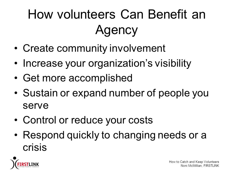 How volunteers Can Benefit an Agency