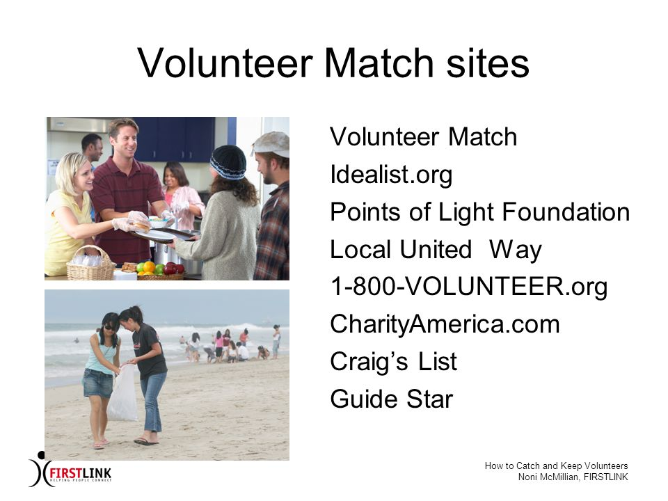 Volunteer Match sites Volunteer Match Idealist.org