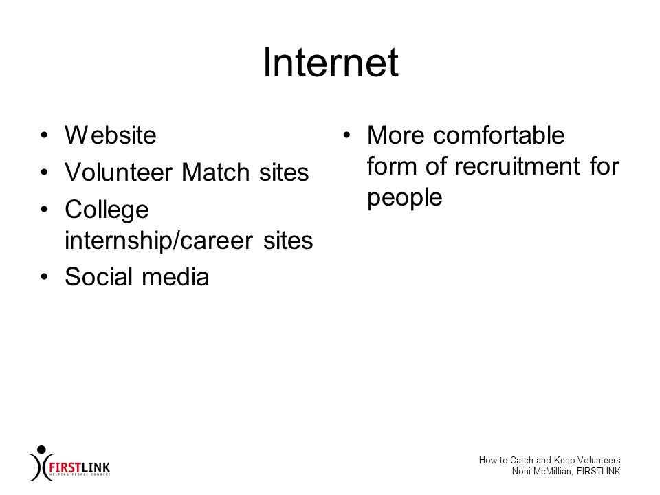 Internet Website Volunteer Match sites College internship/career sites