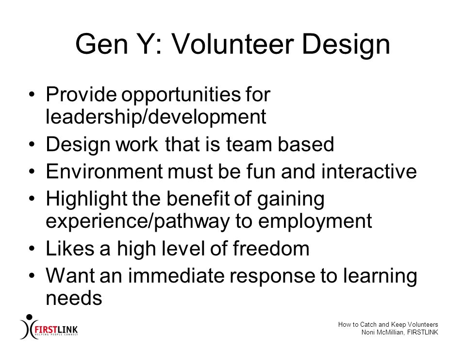 Gen Y: Volunteer Design