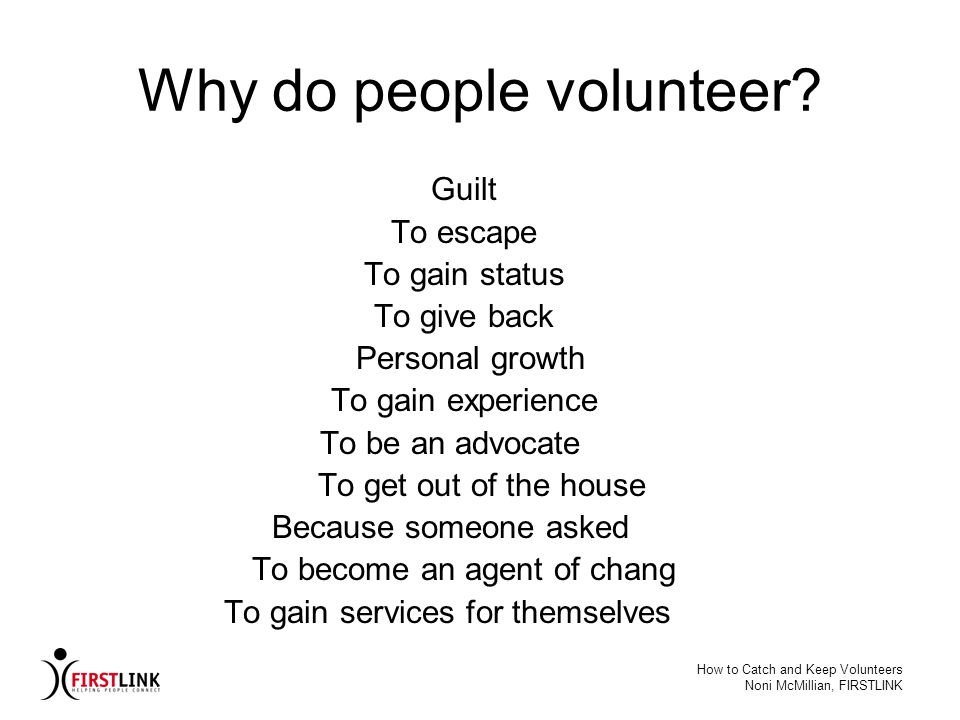 Why do people volunteer