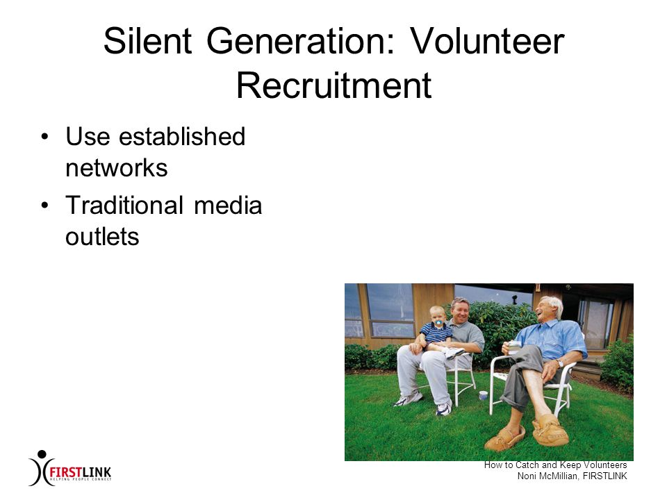 Silent Generation: Volunteer Recruitment