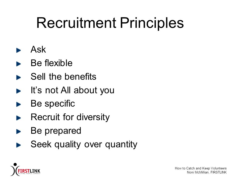 Recruitment Principles