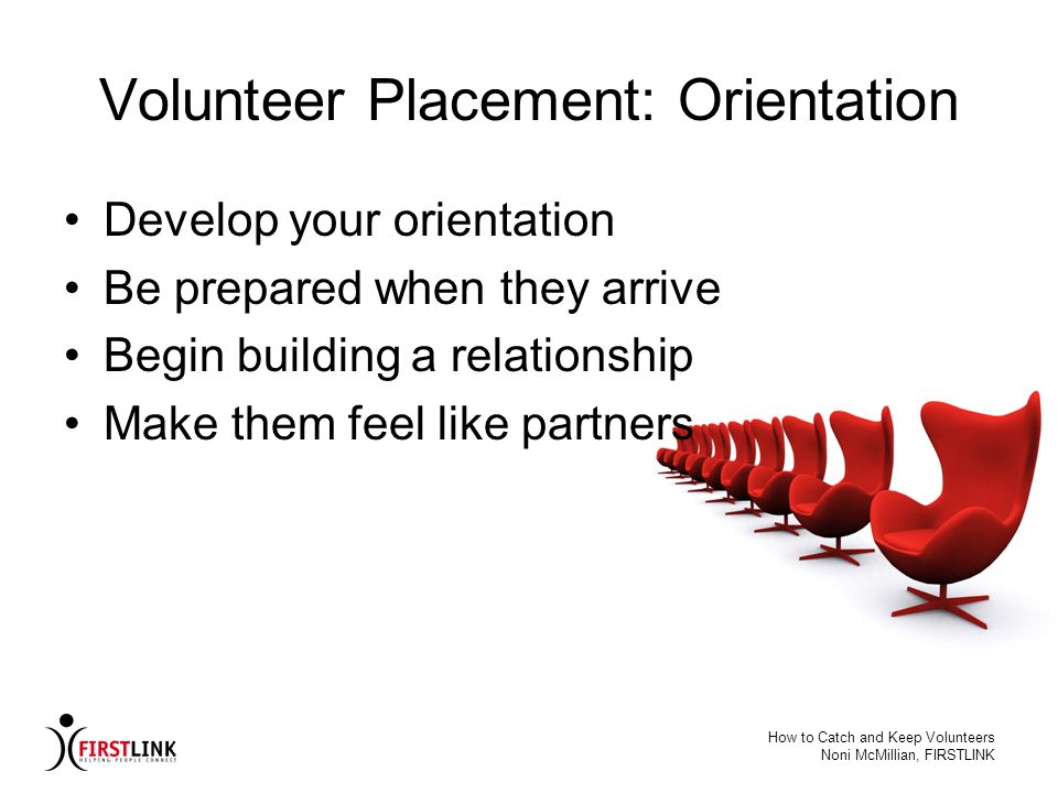 Volunteer Placement: Orientation