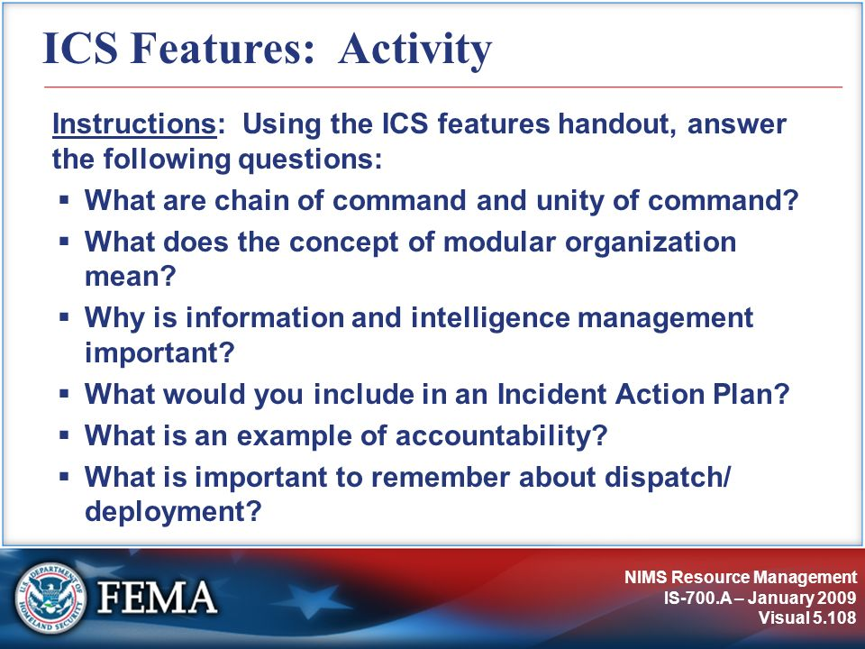 ICS Features: Activity