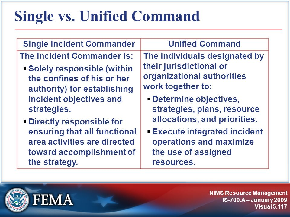 Single vs. Unified Command