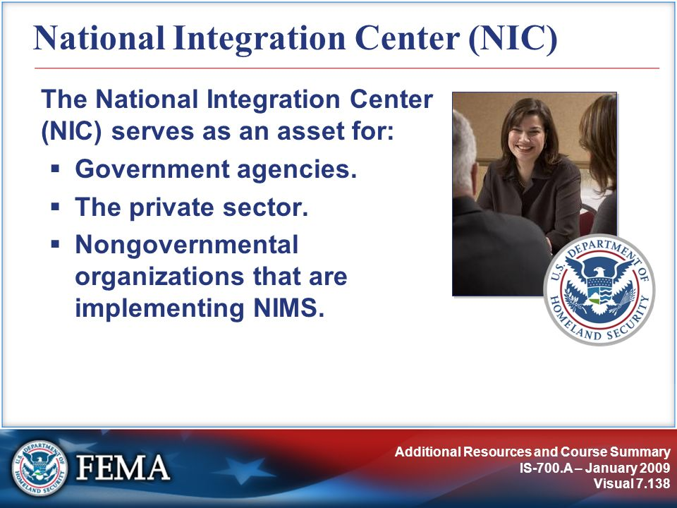 National Integration Center (NIC)