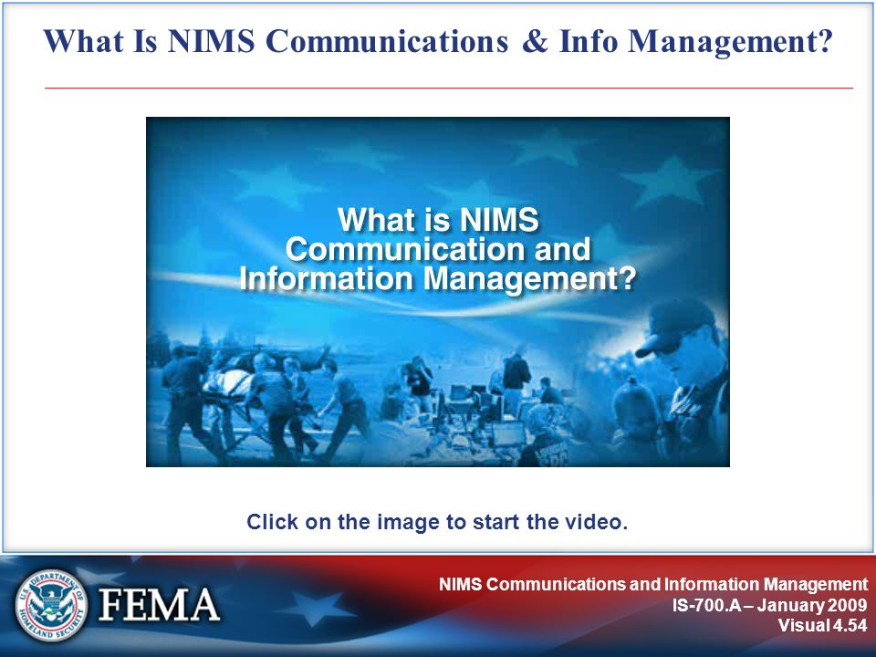 What Is NIMS Communications & Info Management