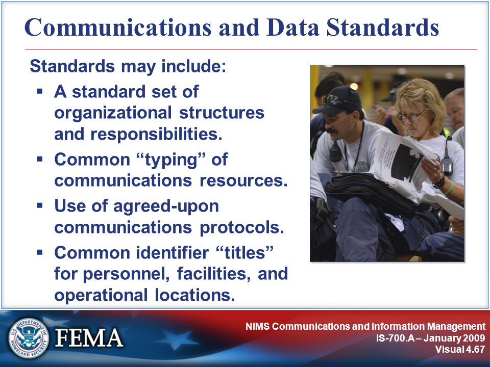 Communications and Data Standards