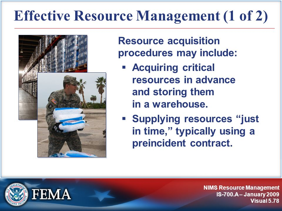 Effective Resource Management (1 of 2)