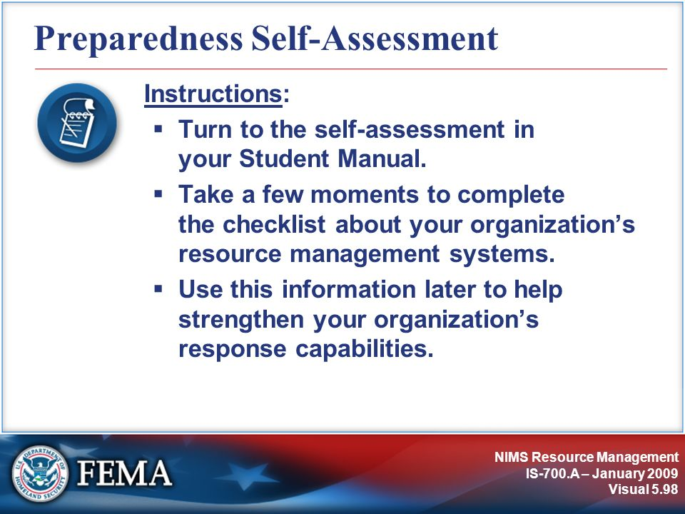 Preparedness Self-Assessment